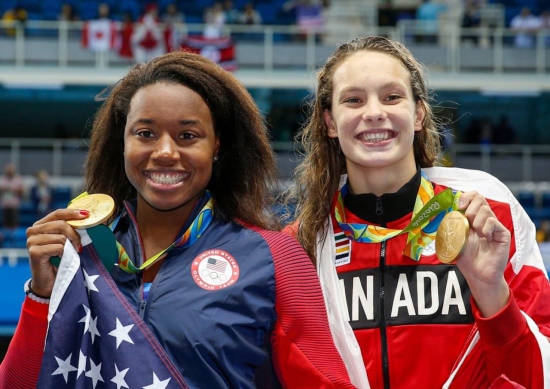 Simone Manuel and Penny Oleksiak - snap gold! - by Patrick B. Kraemer (all rights reserved)