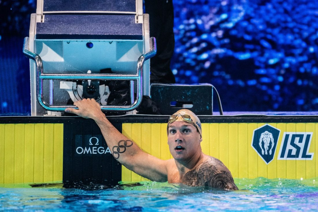 Caeleb Dressel - by Mike Lewis, courtesy of the ISL