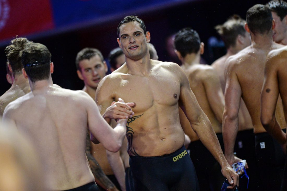Florent Manaudou in a League rocked by the resignation of the French sprint ace's agent as ISL GM to Energy Standard - photo courtesy of Gian Mattia D'Alberto - LaPresse 05-10-2019 Indianapolis Sport 2019 International Swimming League nella foto: le gare Ph Gian Mattia D'Alberto - LaPresse 2019-10-05 Indianapolis 2019 International Swimming League in the photo: the competition