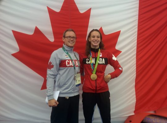 Ben Titley and Penny Oleksiak - courtesy of Ben Titley (Twitter)
