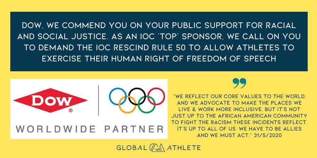global athlete olympic sponsor rule 50