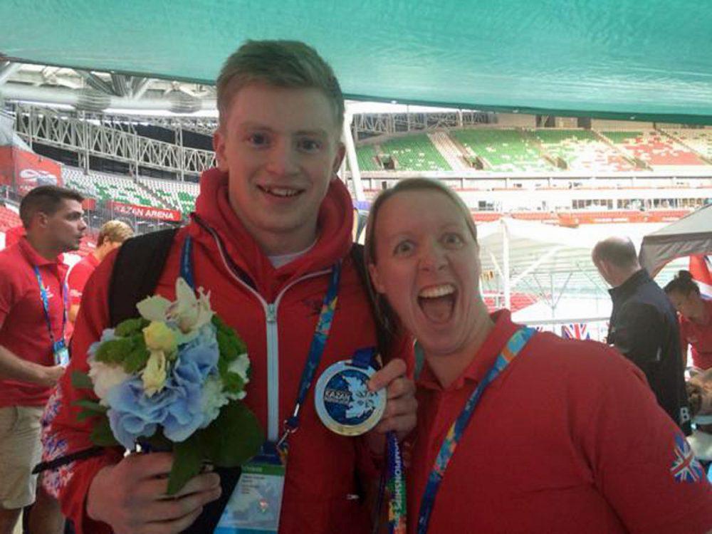 Olympic gold partners Adam Peaty and coach Melanie Marshall - courtesy of Melanie Marshall