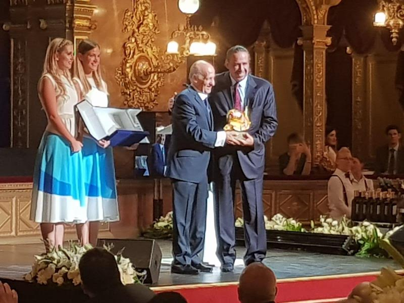 Julio Maglione bathes in the glory of Olympic kingmaker Sheikh Ahmad Al Fahad Al Sabah in Budapest back in 2017, the year the FINA president who came to office on a promise of 'one-term only' took up his third term in office