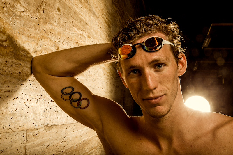 Swimmer Jeremy DESPLANCHES of Switzerland poses for a portrait during a photo session during the Swiss Swimming Championships at the Piscine des Vernets in Geneva, Switzerland, Sunday, March 26, 2017. (Photo by Patrick B. Kraemer / MAGICPBK)