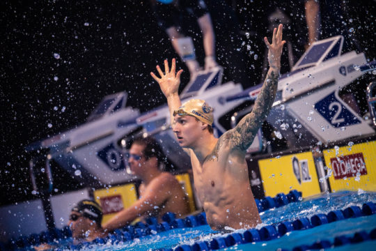 Caeleb Dressel, by Mike Lewis, courtesy of the ISL