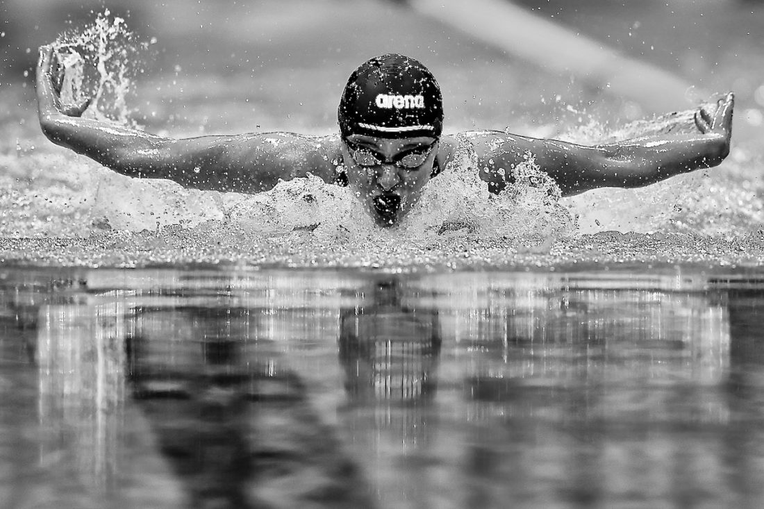 Abbie Wood on her way to victory and a ticket to the Tokyo 2020 Olympic Games - by Georgie Kerr, courtesy of British Swimming