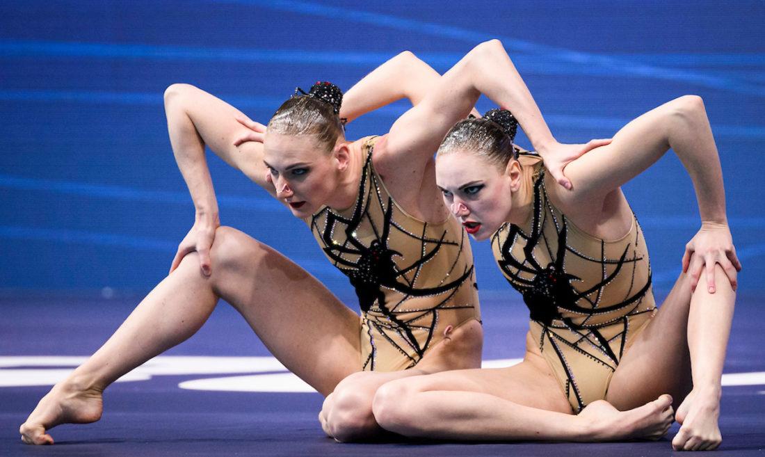 The Two Svetlana's caught a 23rd European gold in their web of perfection - Svetlana Kolesnichenko and Svetlana Romashina at the Duna Arena Budapest - Photo Pasquale Francesco Mesiano / Deepbluemedia / Insidefoto